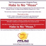 Local PFLAG to Virginia Foxx: 'Hate is no Hoax'