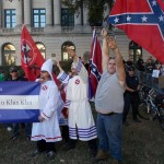 Members of this North Carolina KKK group joined in on the neo-Nazi salute.