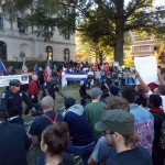 Neo-Nazis and KKK members rally at Old City Hall.