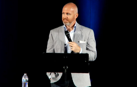 Exodus International President Alan Chambers at his group's conference in California, announced the organization would be shutting down.