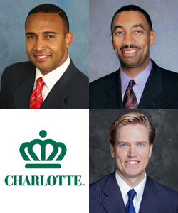 The highest-profile race will be that for Charlotte's mayor. Announced candidates include (clockwise from top left): Patrick Cannon, James Mitchell and Edwin Peacock.