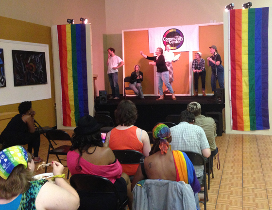 A June 2013 celebration at The LGBT Community Center of Charlotte to commemorate the Stonewall Inn riots' anniversary.
