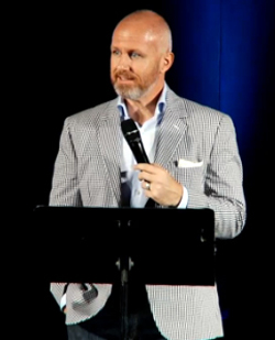 Exodus International's Alan Chambers in a still from a video announcing the closure of  his ministry.