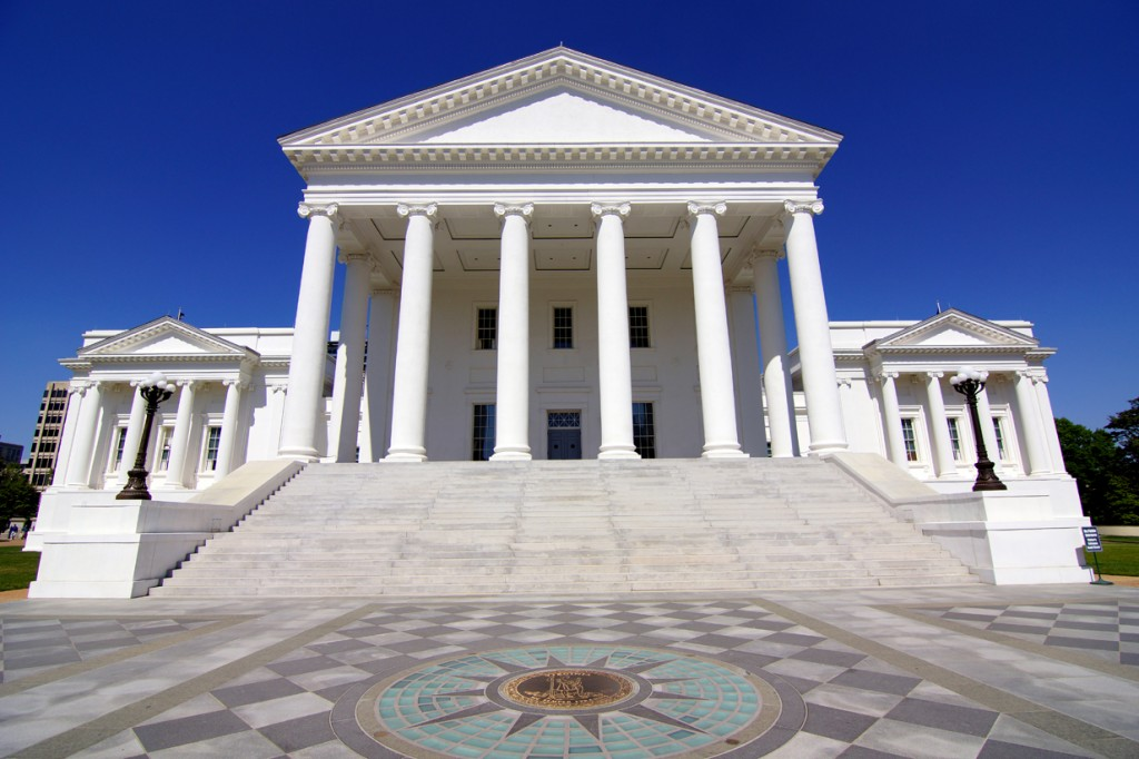 The Virginia Capitol. Photo Credit: Skip Plitt/C'ville Photography, via Wikimedia Commons. Licensed CC.