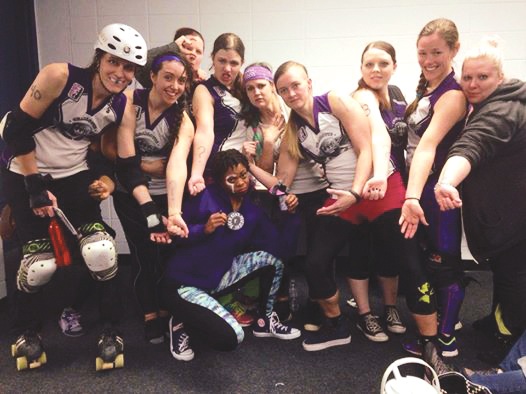Charlotte Roller Girls Do U Juana and the rest of the B-Dazzlers