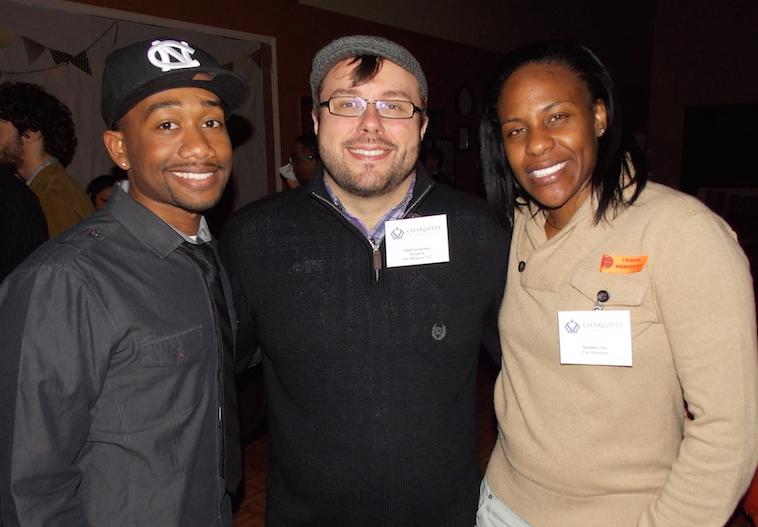 Charlotte Business Guild member Nate Turner, guild President Chad Sevearance and Vice President Natasha Tutt.