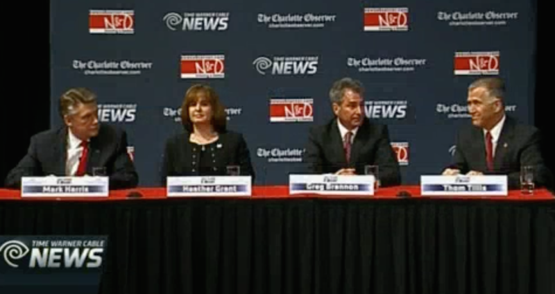 Republican U.S. Senate candidates (L-R): Mark Harris, Heather Grant, Greg Brannon, Thom Tillis