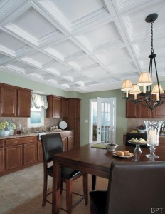 Coffered ceilings are an easy way to add a visual element to the home.