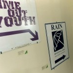 Old signs for Time Out Youth and the Regional AIDS Interfaith Network.