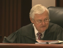 Superior Court Judge Robert Hobgood rules on the North Carolina private school voucher program. Still courtesy WRAL.