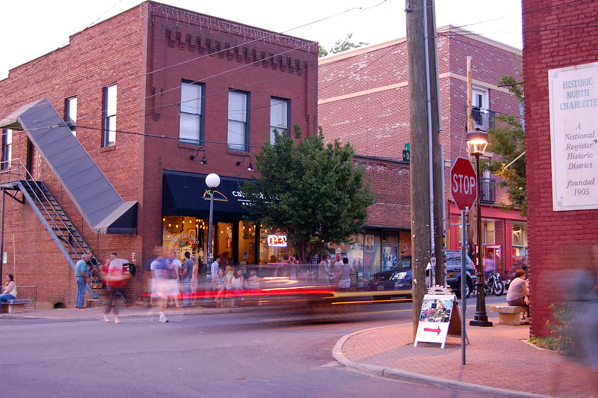 NoDa's eclectic side comes out in its restaurants, bars and other local shops Photo Credit: James Willamor, via Flickr. Licensed CC.
