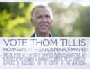 A still from a U.S. Chamber of Commerce ad supporting Thom Tillis.