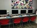 A photo of a portion of Time Out Youth Center's new David Bohnett Foundation CyberCenter. Photo courtesy Rodney Tucker/Time Out Youth Center.