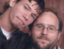 Chuck Tobin, left, and his boyfriend Ron Lane, right. Lane was fatally shot by a campus shooter on April 13. In what appears to be an unrelated case, Tobin disappeared last July and was found dead in November.