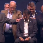"Gov. McCrory appears at prayer rally, sits with head bowed as religious leader bashes gays, says the U.S. ""deserves judgment"" (VIDEO)"