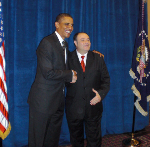 Mark Segal with President Barack Obama