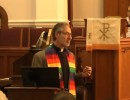 Rev. Nathan King giving sermon. Photo Credit:  YouTube video screenshot.