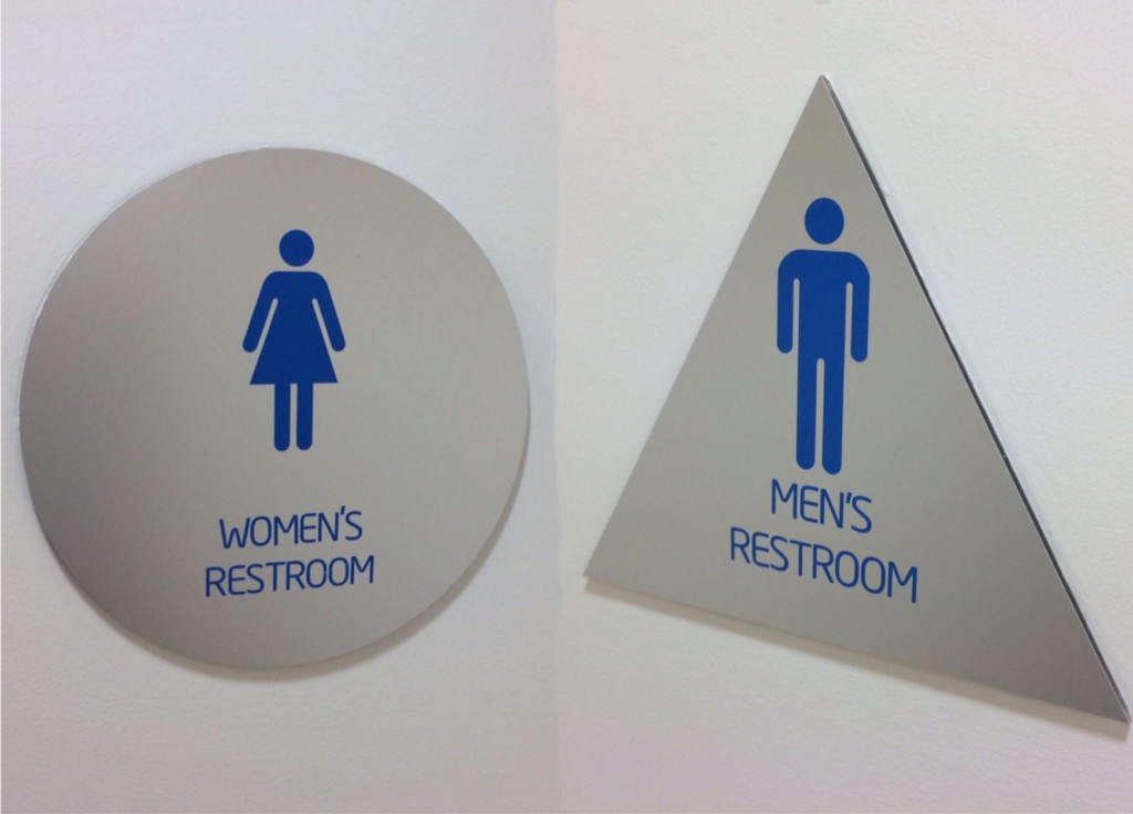 Bathroom Signs Circle And Triangle wake county schools bathroom policy under fire, only approves some