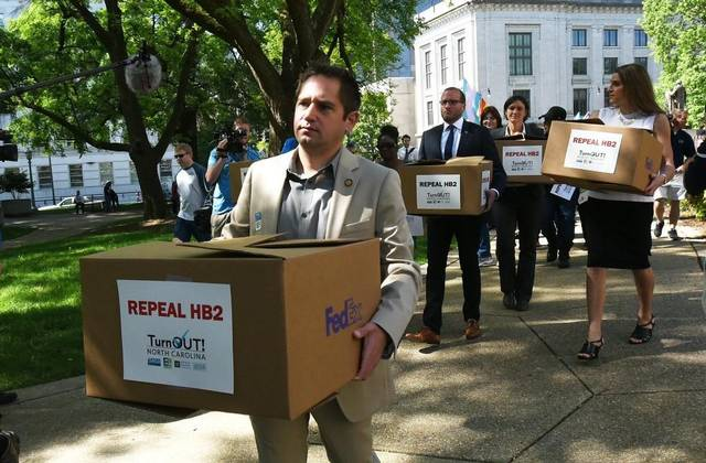 repeal hb2 petitions protest