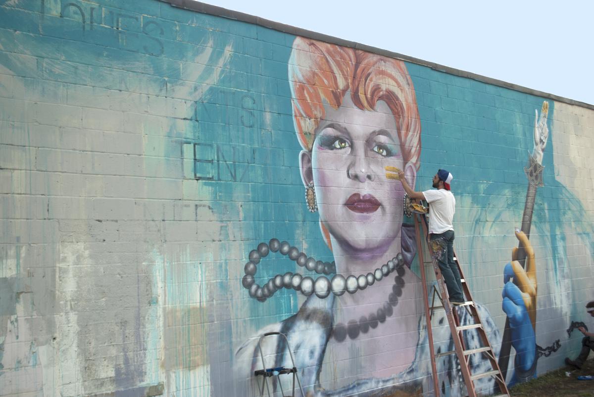 charlotte drag mural