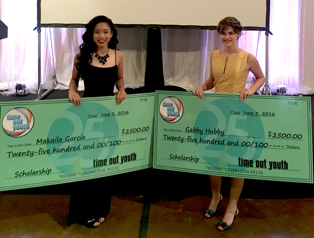 Tonda Taylor LGBTQ Youth Scholarship was awarded to Gabby Hubert, a Parkwood High School senior, and Makalia Garcia, a recent graduate of Rowan-Cabarrus Community College.