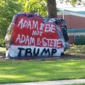 featured image Rock outside Matthews high school painted with anti-gay, pro-Trump message
