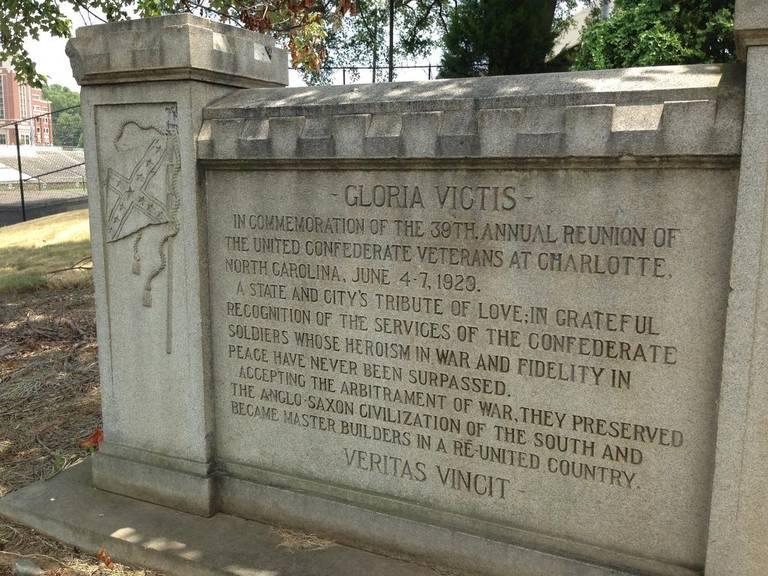 Confederate monument CPCC Charlotte