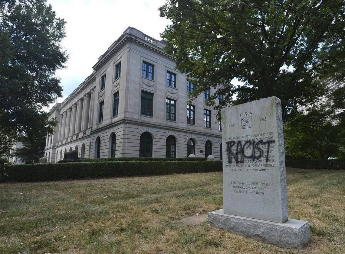 Confederate monument Charlotte