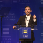 Watch Adam Rippon receive HRC's Visibility Award and deliver a moving speech on living open and free