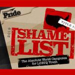 Org shares new worst campus shame list